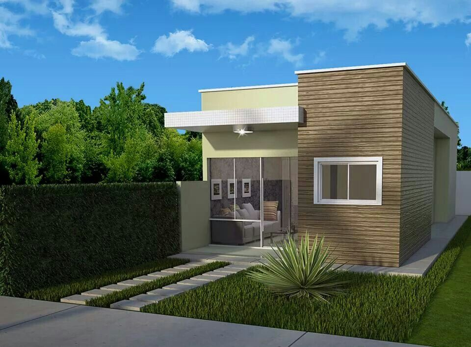 Fachada casa pequena casa pinterest fachadas casas for Fachadas pequenas