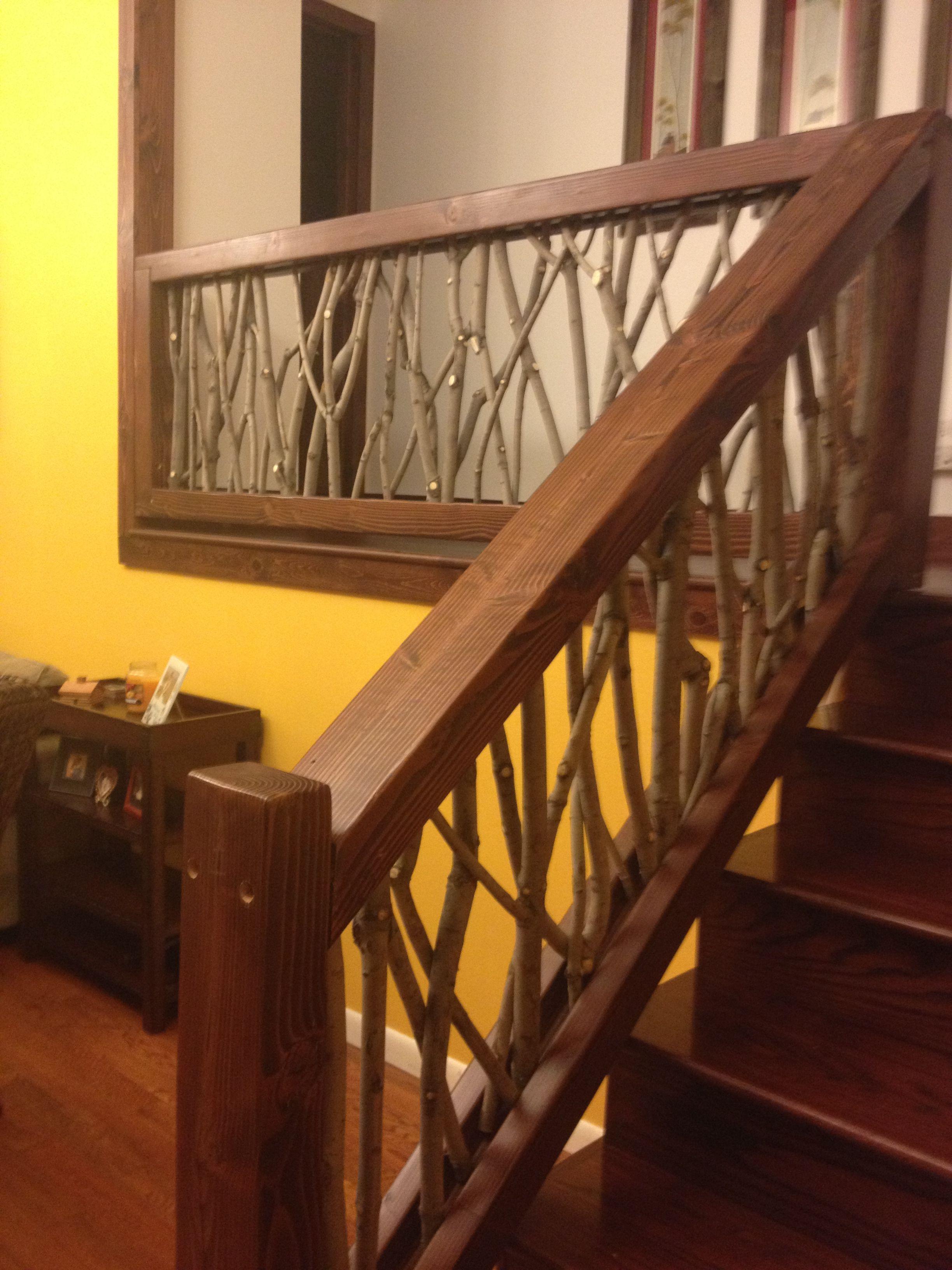 Best I Love This Handmade Tree Limb Stair Rail It Is Beautiful 400 x 300