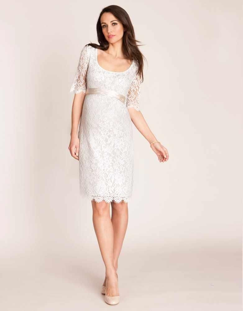 Discount Affordable Maternity Evening Dresses Half Sleeve Lace ...