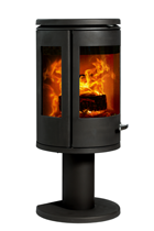 Morso 7948 Lightly And Elegantly Raises The Firebox Enclosed By The Spectacular Side And Front Panels Available In Black Wood Burning Stove Wood Heater Stove