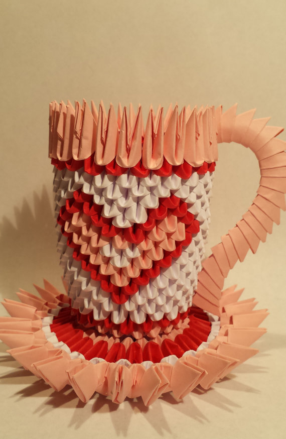 3D origami cup
