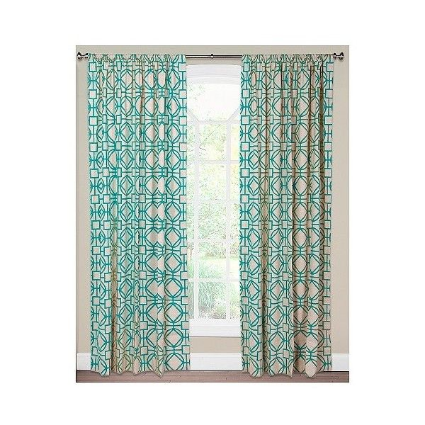 Siscovers Nolo Turquoise Curtain Panel ($130) ❤ liked on Polyvore ...