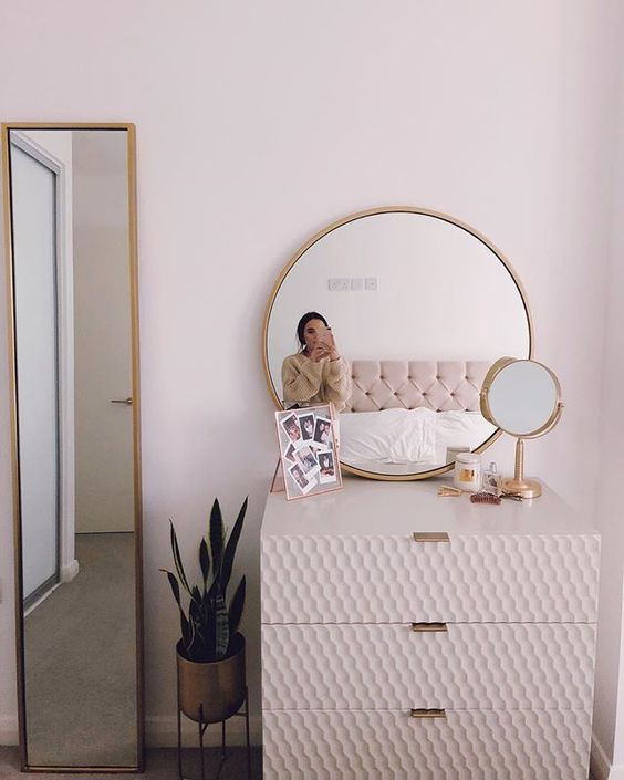 THE DRESSING TABLE IS EXTREMELY IMPORTANT FOR GIRLS WHO LOVE BEAUTY  Page 63 of 71 is part of Home bedroom - Beauty is a girl's nature, and the dressing table is necessarily one of the indispensable furniture for girls  Since the dressing table is so important…