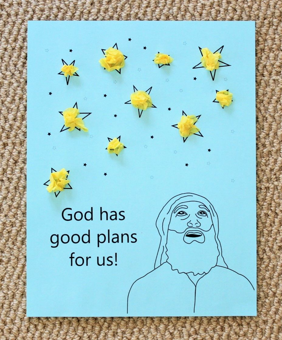 Abraham Tissue Paper Stars Preschool Bible Lessons Bible