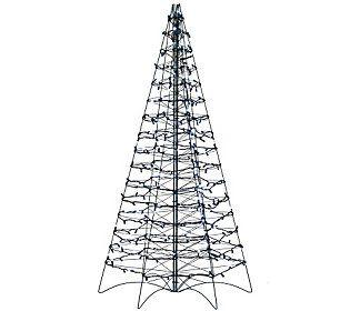 pre lit led 5 fold flat outdoor christmas tree by lori greiner - Pre Lit Outdoor Christmas Tree