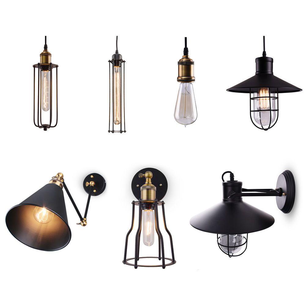 Retro Industrial Vintage Light Wall Mount Pendant Lamp Sconce