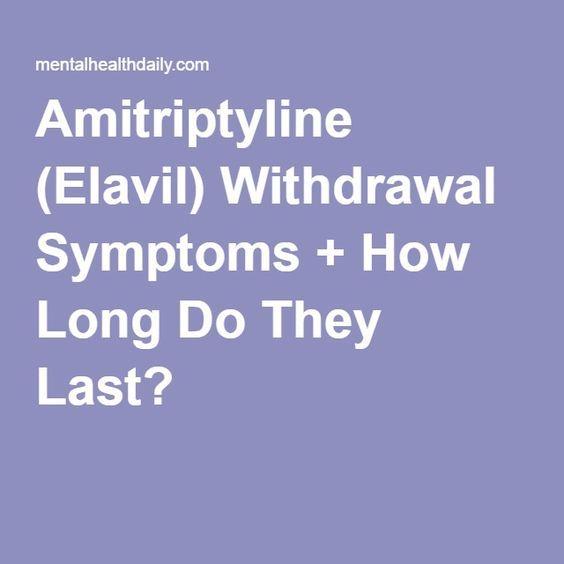 Amitriptyline (Elavil) Withdrawal Symptoms + How Long Do ...