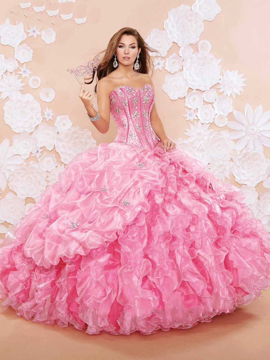 Sweetheart Bling Quinceanera Dresses Blue Puffy Organza Ball Gown ...