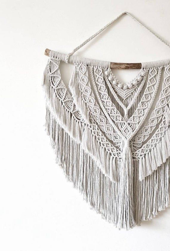 Gracie - large macrame wallhanging / tapestry made from natural organic + recycled cotton in a color of your choosing