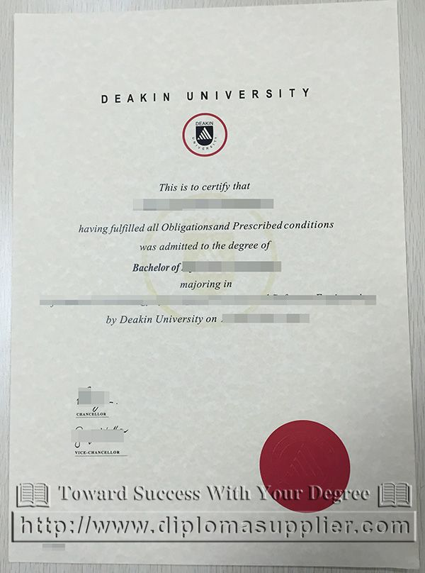 Deakin University Degree Certificate Deakin University Diploma