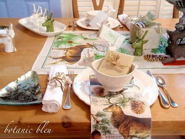 Botanic Bleu: Deer Christmas Table