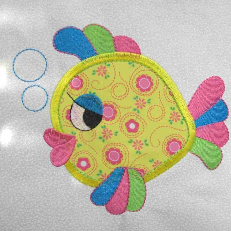 Image Detail For Fish Under The Sea Applique And