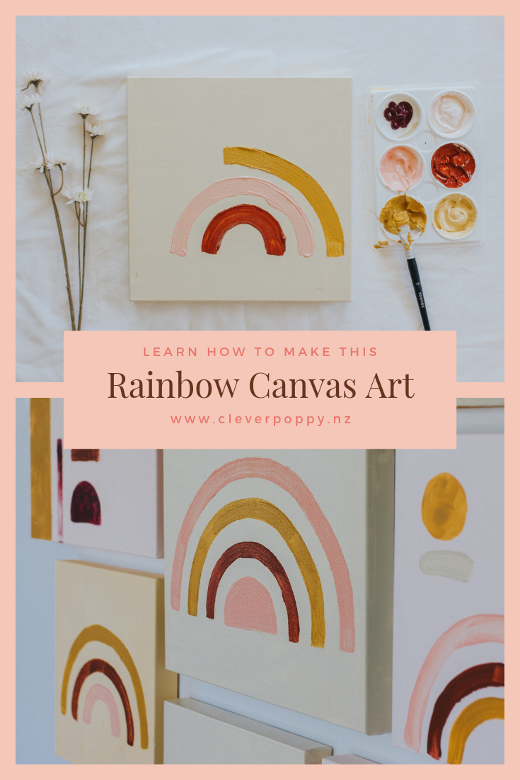 DIY - Rainbow Art — Clever Poppy