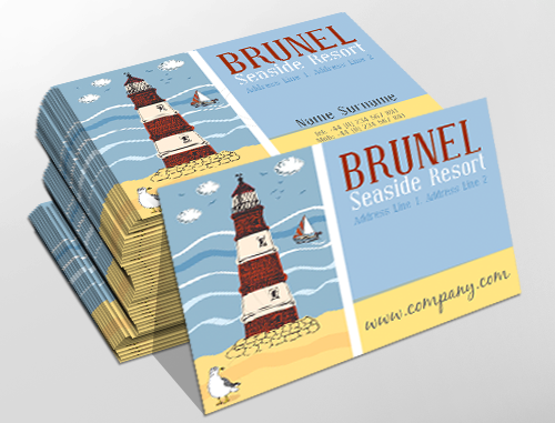 Traditional business card design ideal for seaside resorts traditional business card design ideal for seaside resorts customise a range of business card reheart Images