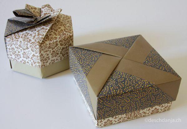 Origami 4 Und 6 Eckige Schachteln Origami Schachteln