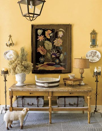 Pin On Ochre Painted Interiors