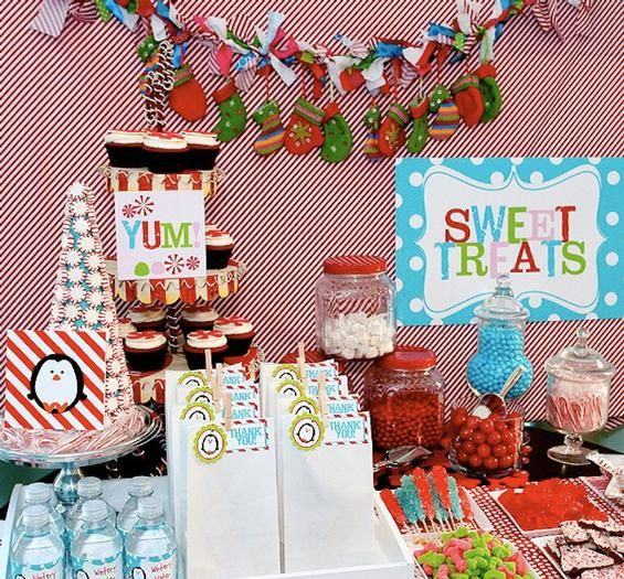 Winter Wonderland Birthday, but this would make cute decor for a Kid's Christmas party