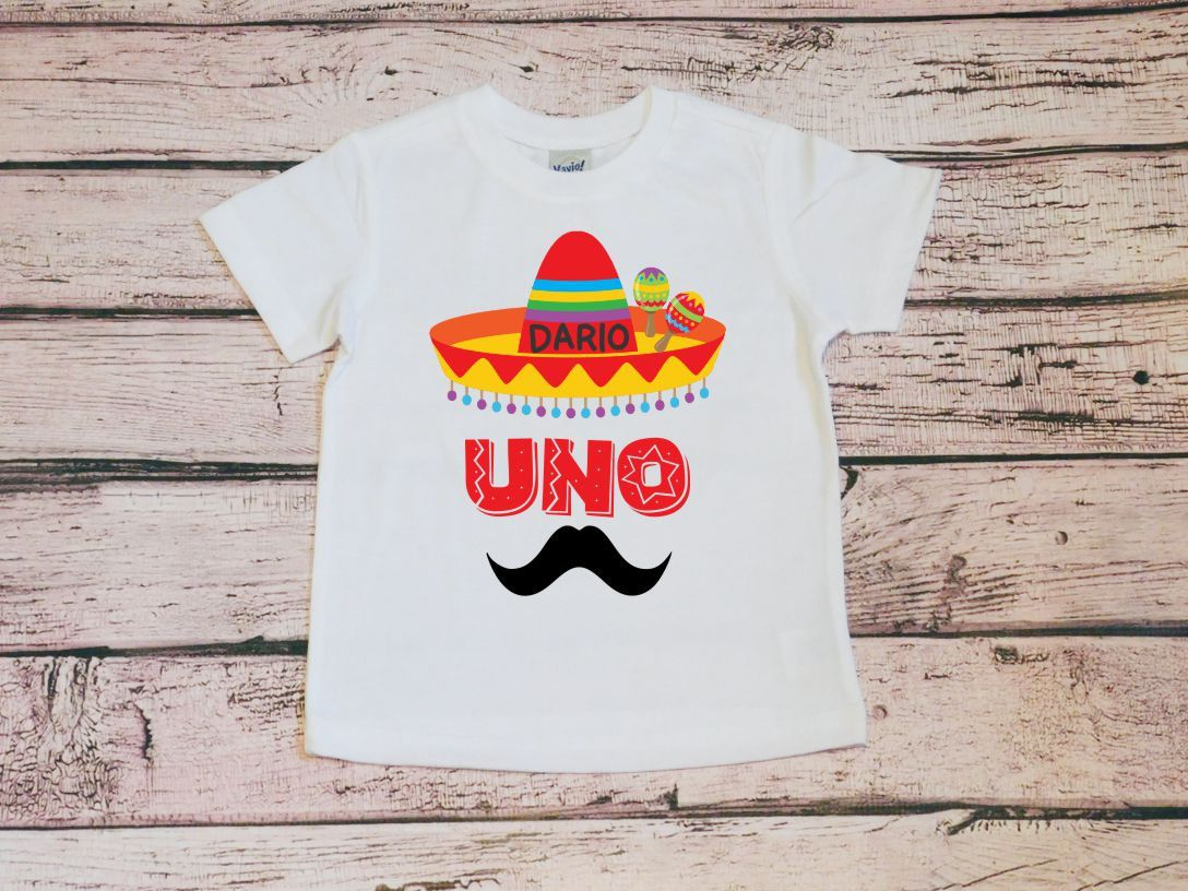 Boys Uno Personalized Birthday Shirt, Boys 1st Birthday