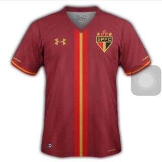 Terceiro uniforme São Paulo linha (Foto  Divulgação) Globoesporte.com.   SPFC… 21e66c6a306f6