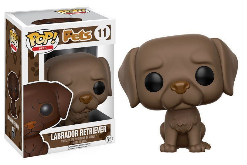 Funko Pop Pets Labrador Retriever Chocolate Stylized Vinyl Figurine 11 New In 2020 Pet Pop Vinyl Figures Chocolate Labrador Retriever
