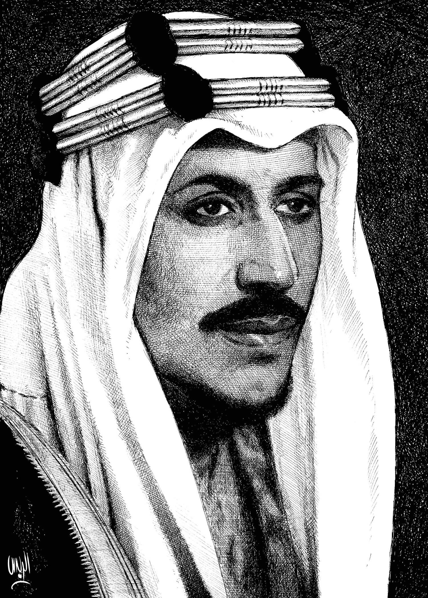 King Saud Rayes Oil Painting Drawings Painting