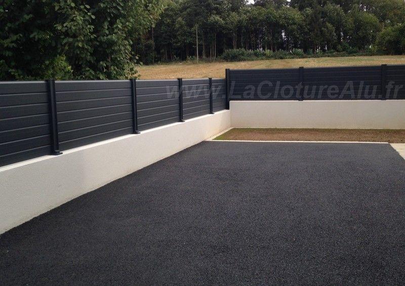 cloture pleine cloture pinterest fences front fence and driveways. Black Bedroom Furniture Sets. Home Design Ideas