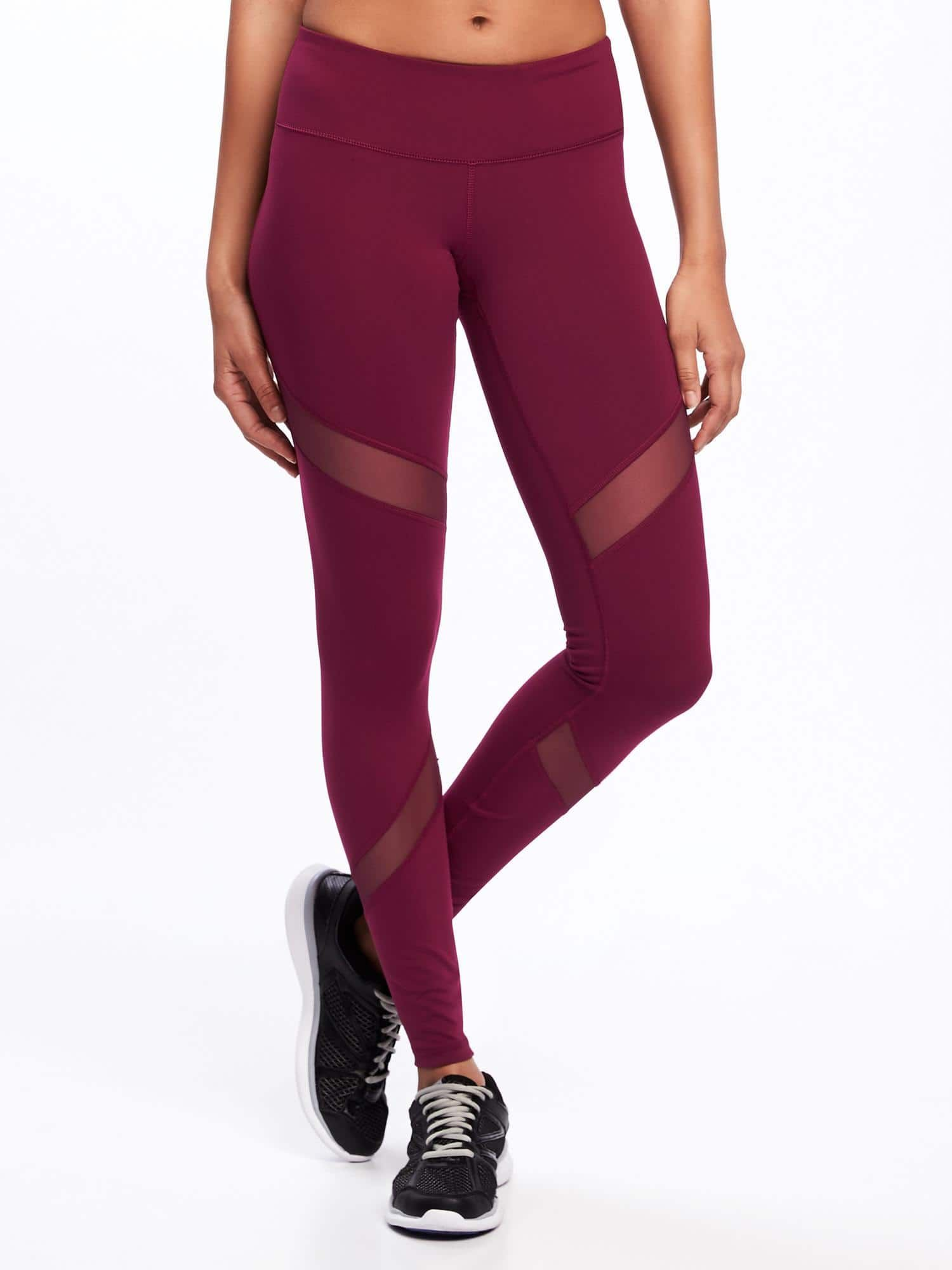 5c53b310a2361 Mid-Rise Mesh-Panel Elevate Compression Leggings for Women | :: SHOP ...