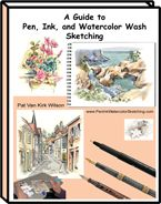 Pen Ink Watercolor Wash Sketching Ebook Guide Practice