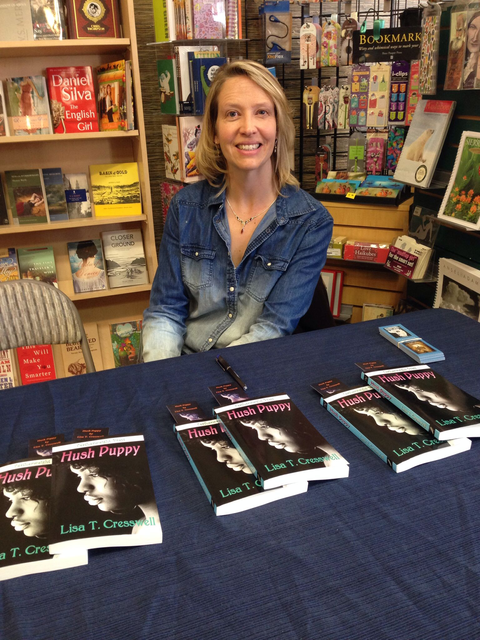 Book signing for Hush Puppy by Lisa T. Cresswell Hush
