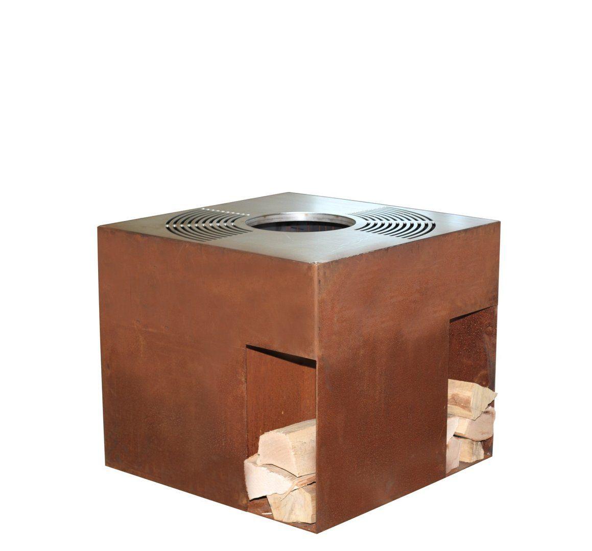 Feuerstelle Quadro Corten | Cucina outdoor | BBQ grill ...
