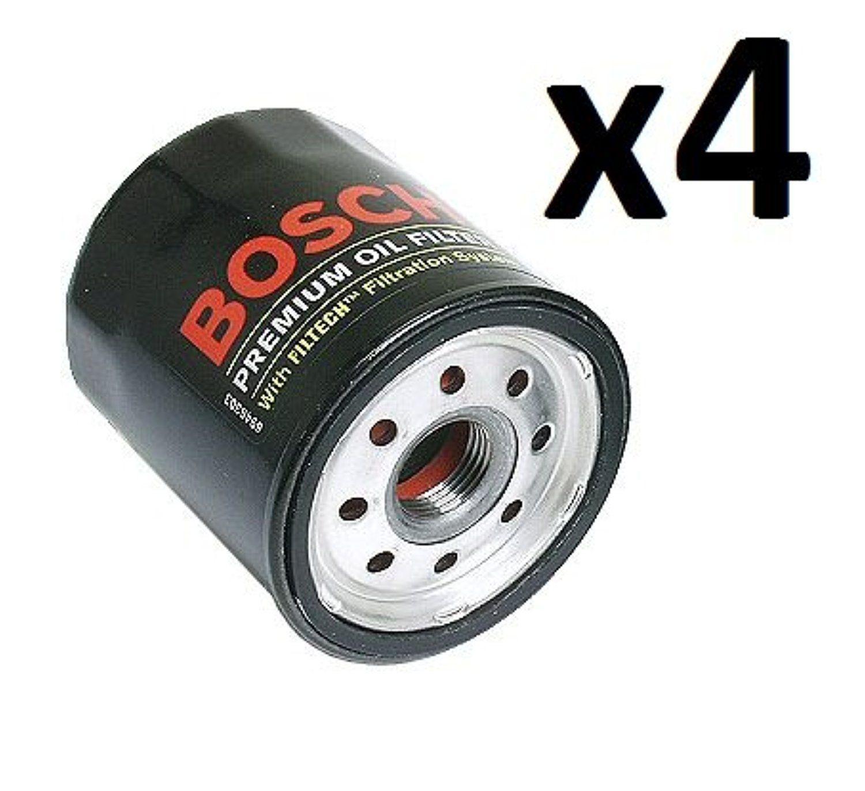 4 Engine Oil Filters Bosch 3311 Toyota Yaris Matrix Corolla Prius ...