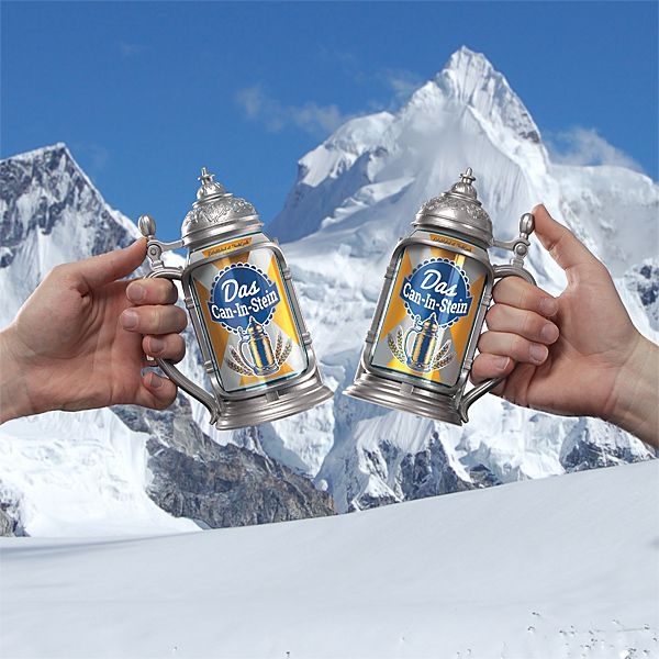 Turn that cheap 12 oz. beer can into something legendary when you drink it on a Das Can-in-Stein! An April fool's product idea that turned real because it was so awesome. It is made of plastic that looks like a pewter and seems to not really make any sense. But it does help your beer […]