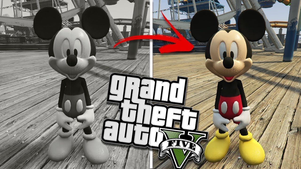 THE MICKEY MOUSE MOD (GTA 5 PC Mods Gameplay) - YouTube | videos i