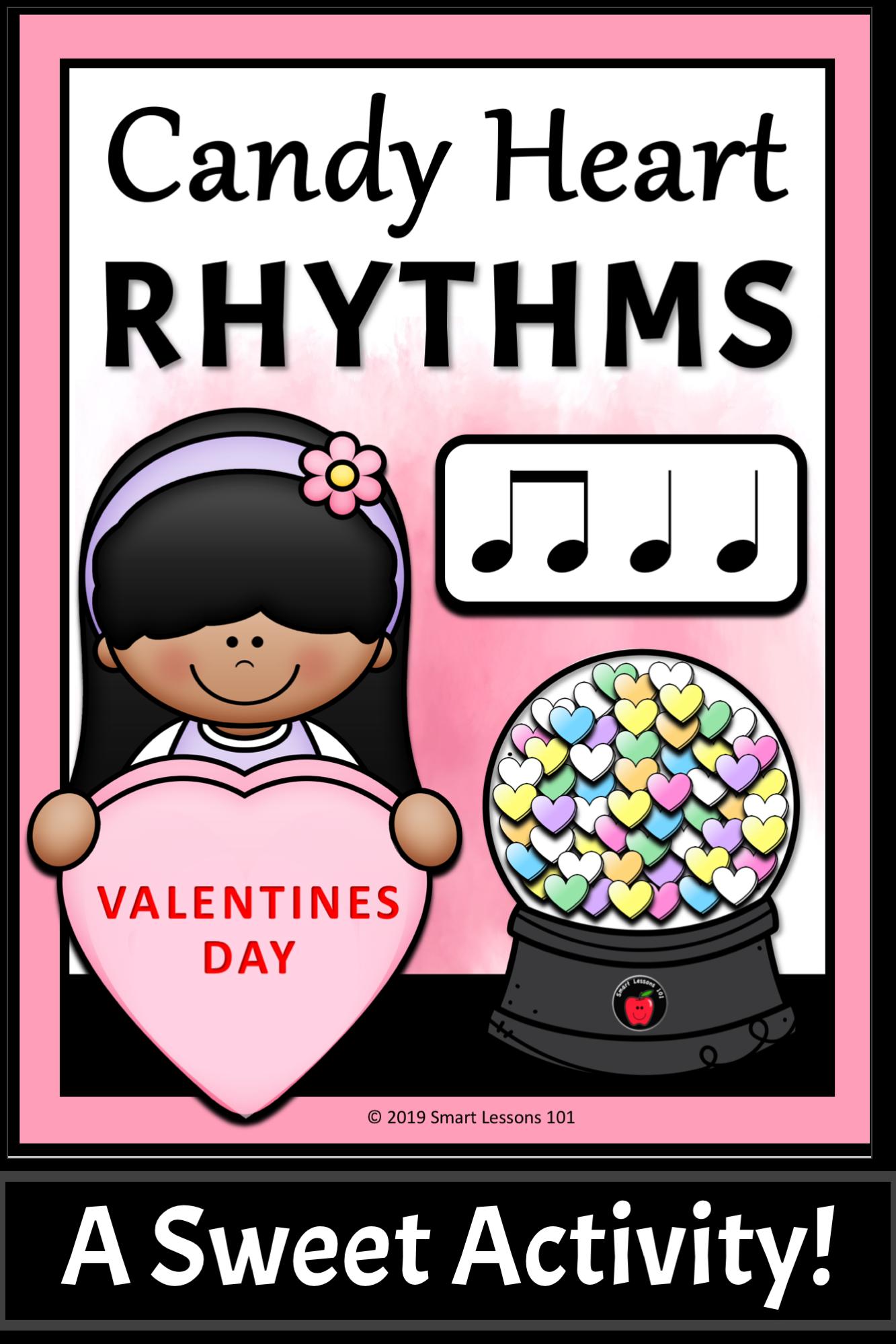 Valentine Day Music Activity Candy Heart Rhythms