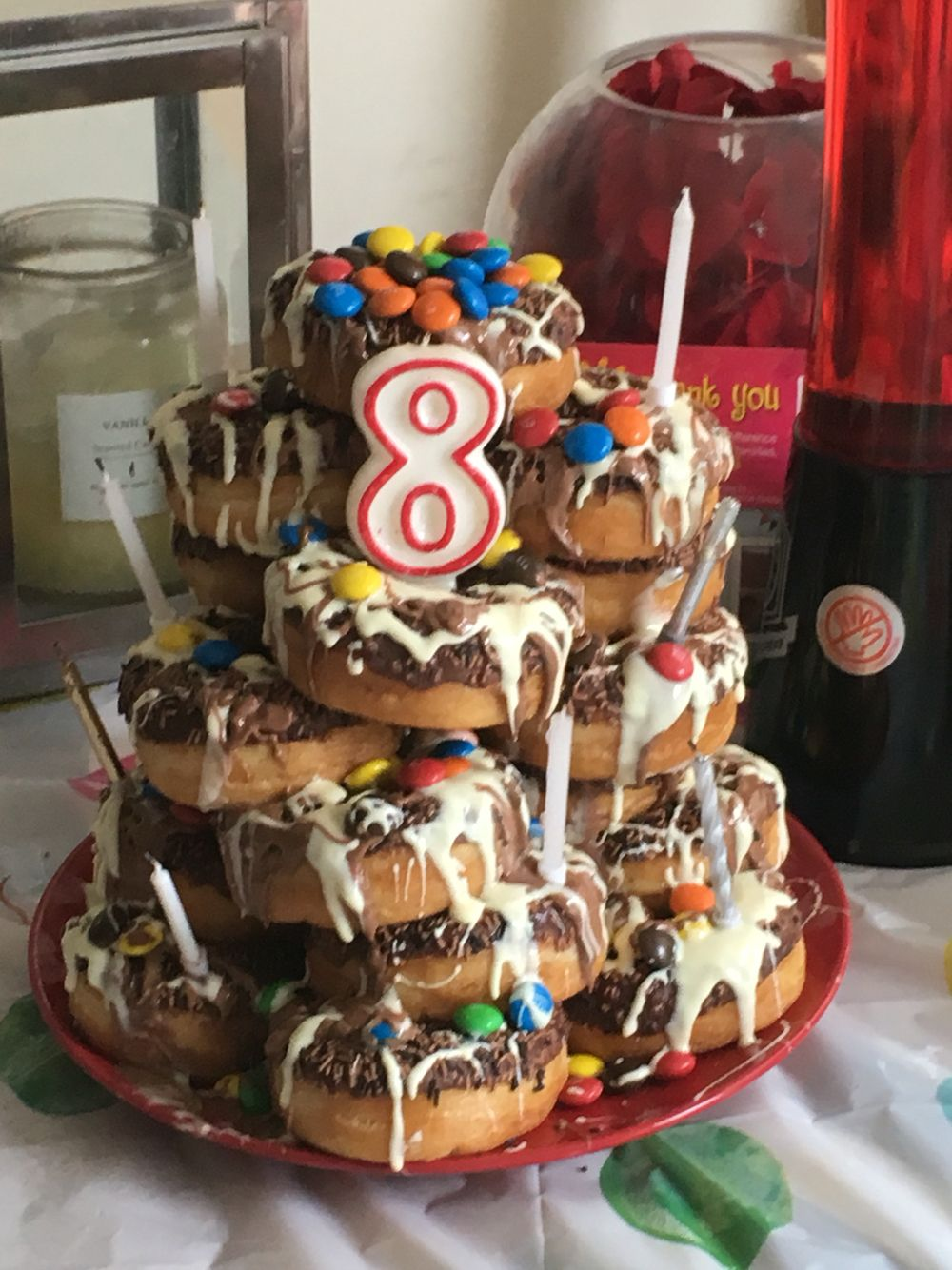 When your kid wants a chocolate donut tower instead of a cake