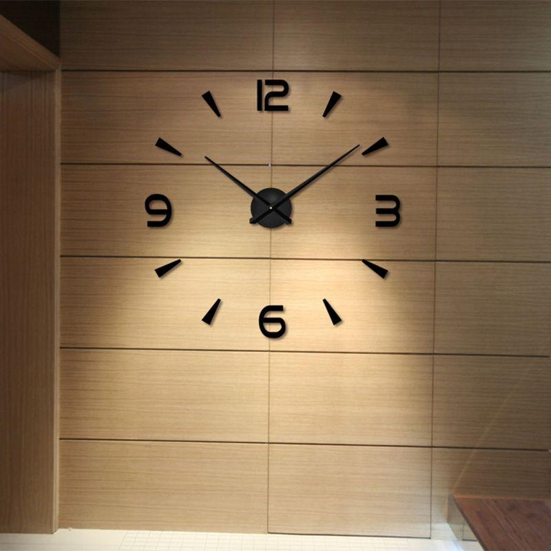 Living Room Decoration DIY Quartz Clocks Watches 3D Real Big Wall ...
