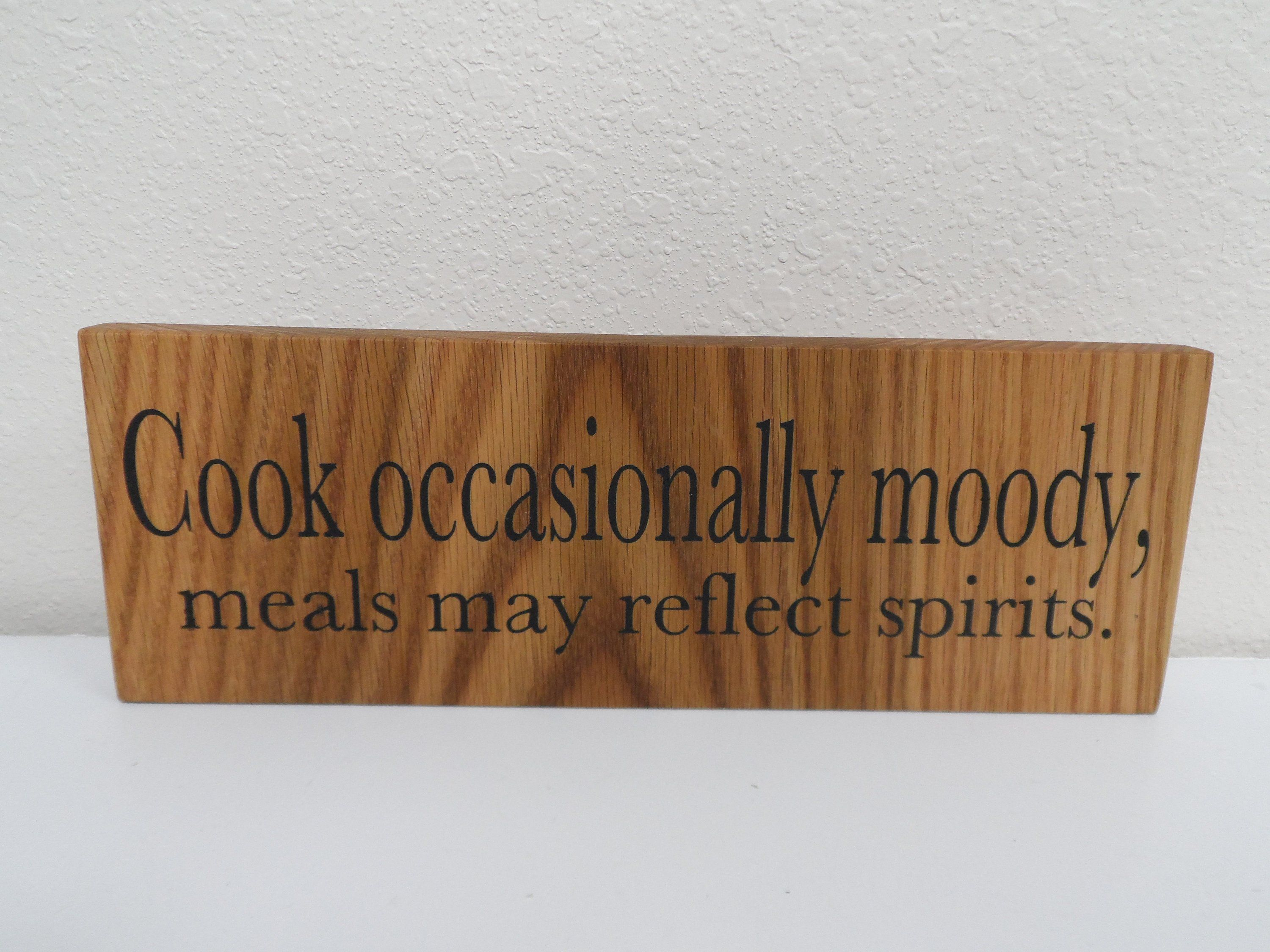 Countertop Signs Hand Painted Wooden Sign Kitchen Sign Natural Oak Wooden Sign