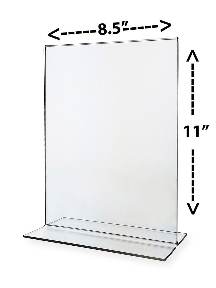 Sign Ad Frame Clear Stand 8.5\