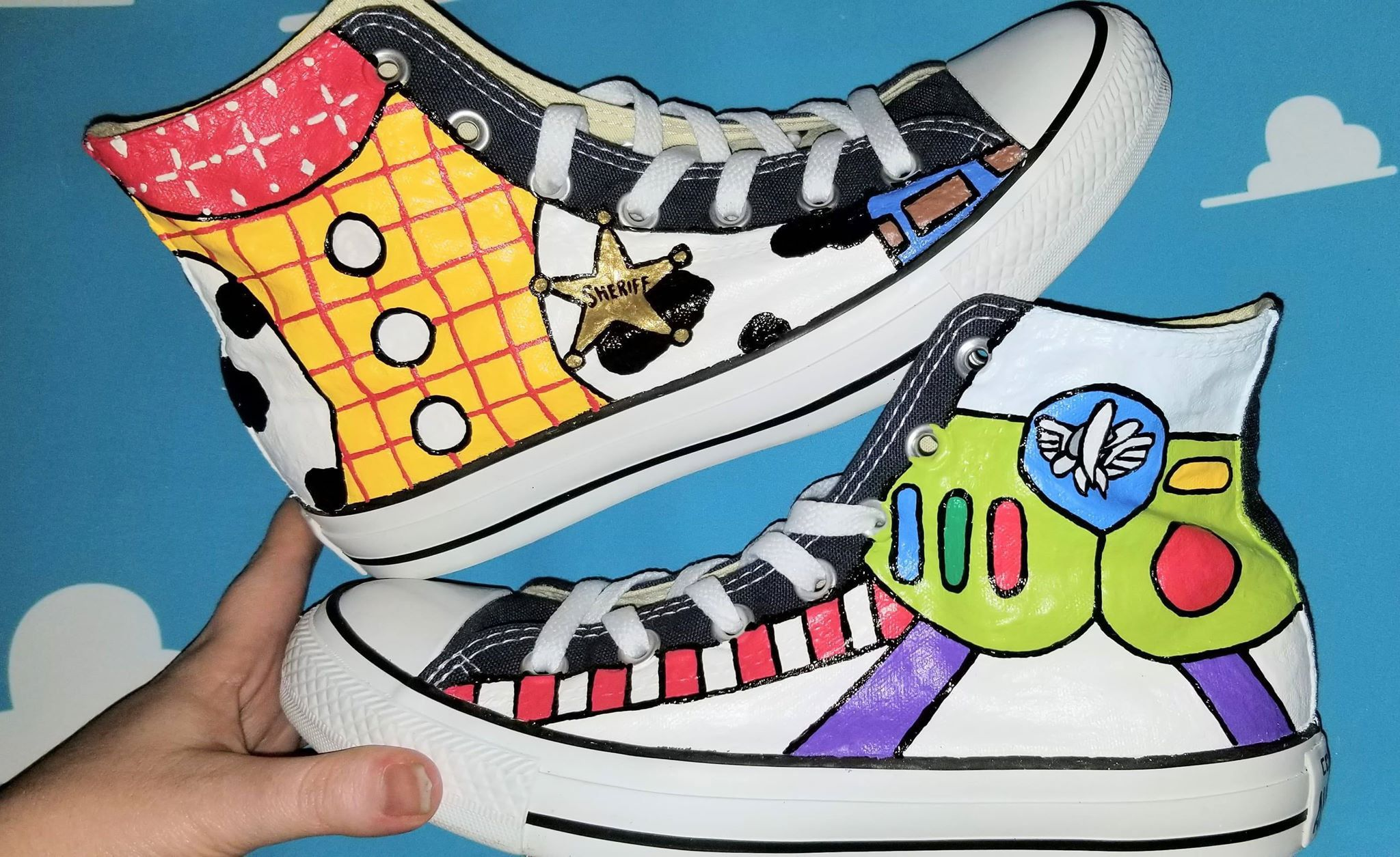 Toy Story Converse Chuck Taylor Shoes Men Women Hand Painted