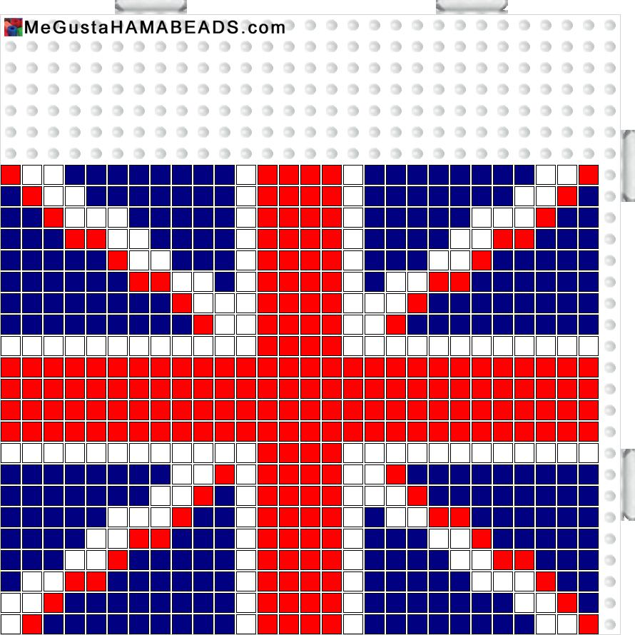 MeGustaHAMABEADS.com: Hama Beads bandera Canada, Reino Unido ...