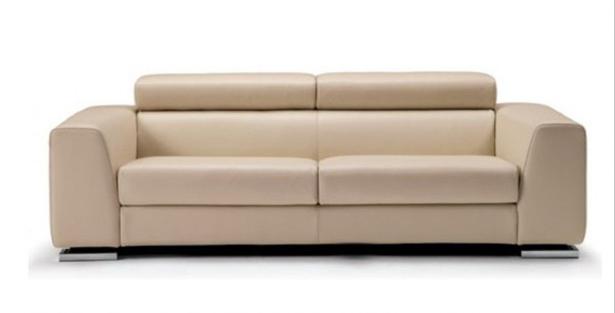 Best Contemporary Beige Italian Leather Sofa Set Leather Sofa 400 x 300