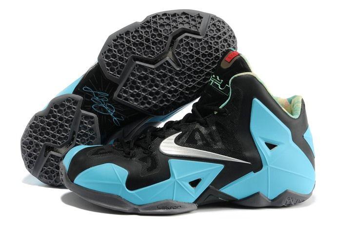 big sale b6163 fc8bd  Nike Zoom  Lebron XI 11 Mens  Shoes 2014 New Black Blue Wear Resistant