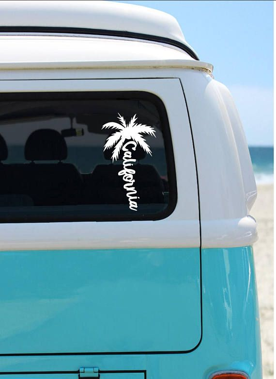 California palm tree vinyl decal california car decal laptop sticker window decal