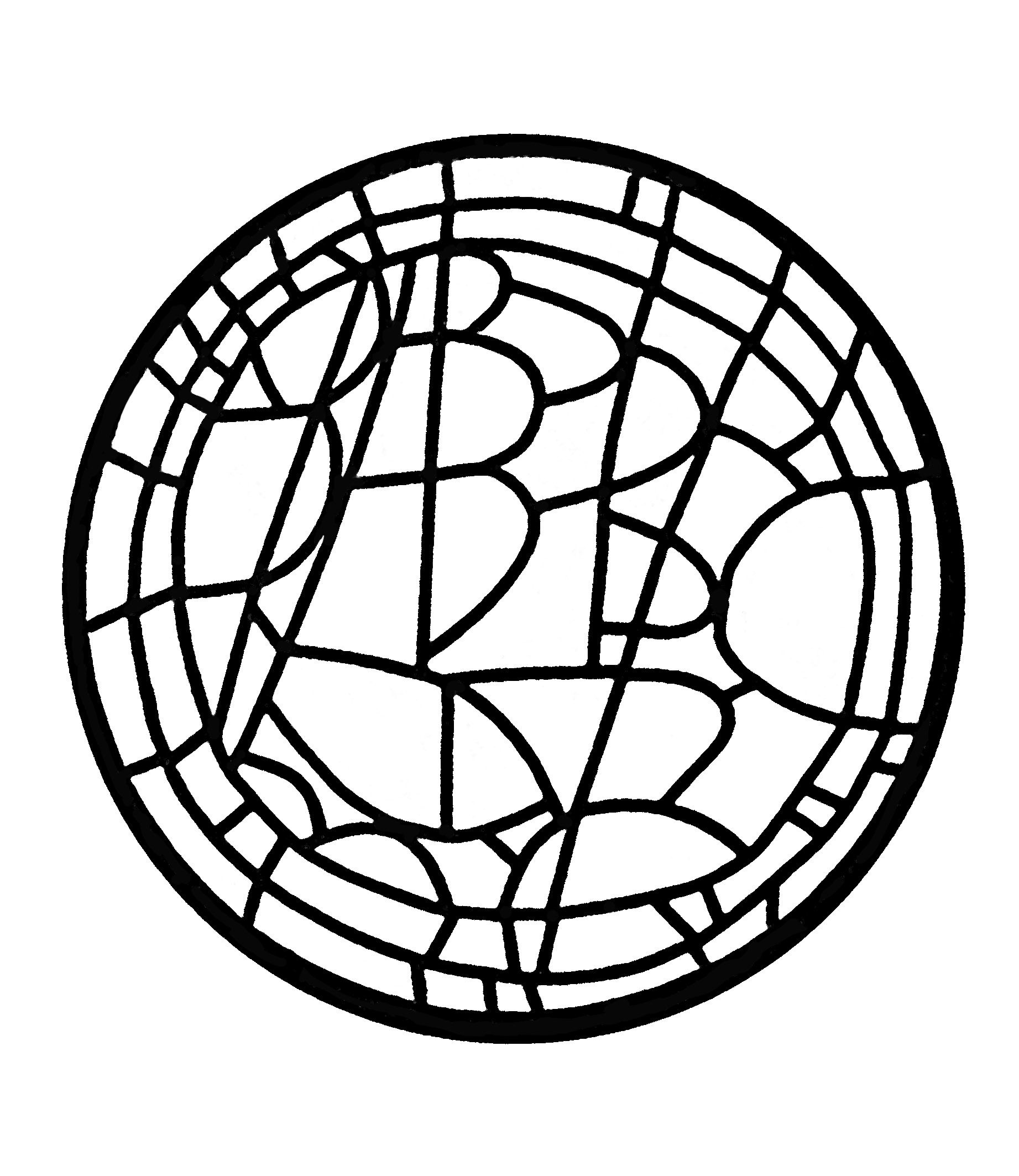 Free coloring page coloring-adult-stained-glass-oculus-du