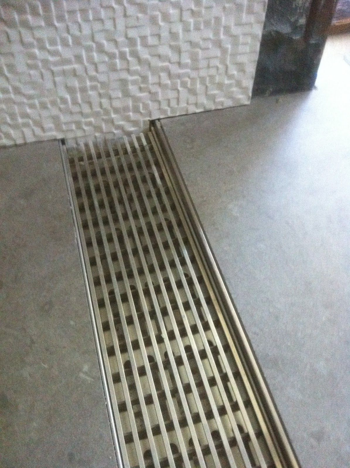 No Curb Shower Drain. Makes A Custom Tile Shower Zero Threshold For  Barrier Free