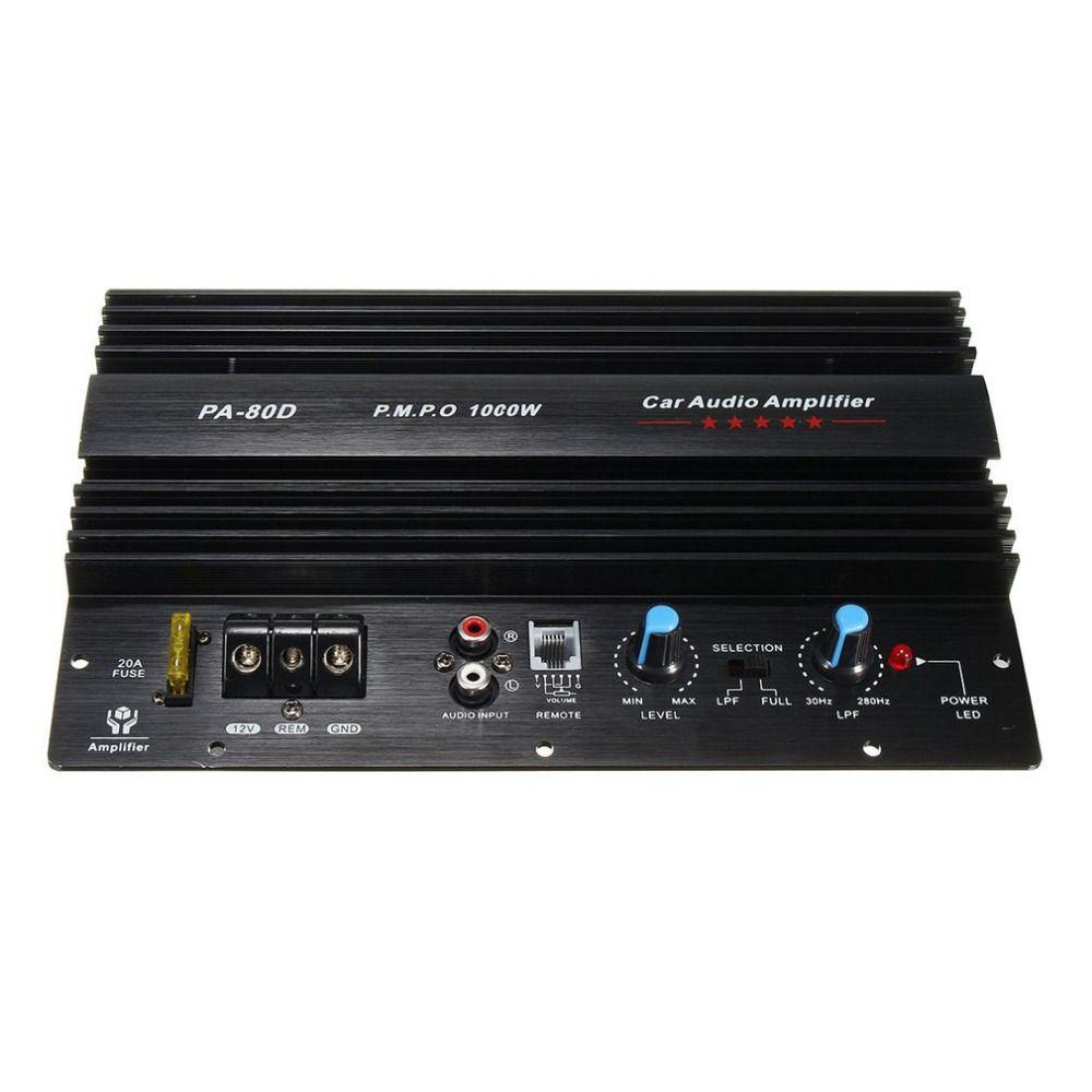 buy 12v 1000w amplifier board mono car audio power amplifier ...