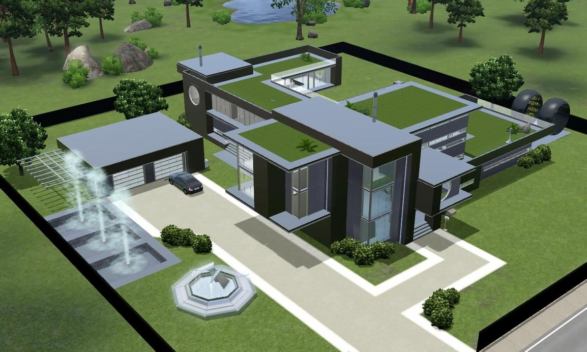 Sims 3 Futuristic House Floor Plans Modern House Sims Modern Blueprints Futuristic Vil Futuristic Home Amazing Minecraft Houses House Architecture Design