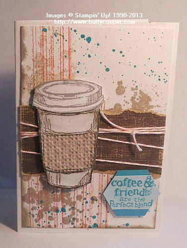 Perfect Blend Notecard - Stamping in Winchester, VA, with Buffy Cooper
