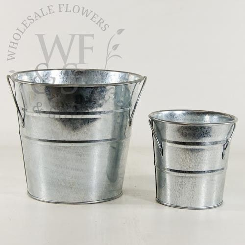 625 Galvanized Metal French Flower Bucket Flower And Wedding