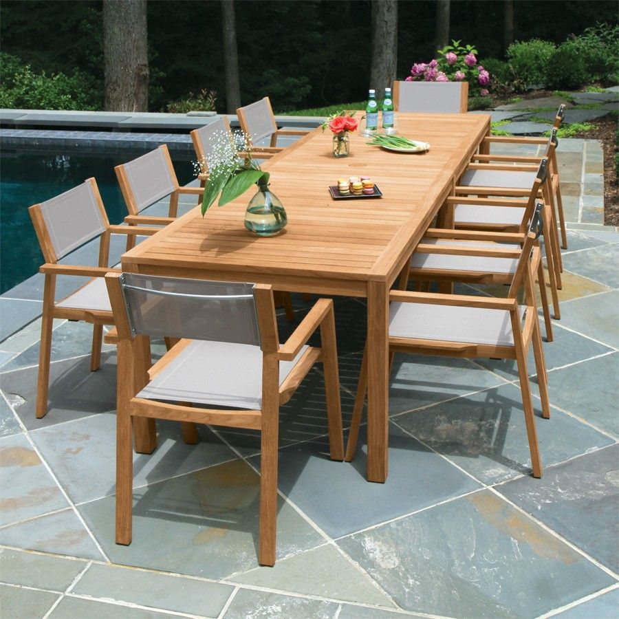 Outdoor Furniture Dining Set Sale Country Casual Teak Dining Table Love The Mesh And Teak Dining